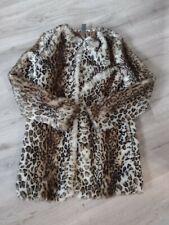 Girls Faux Fur ZARA Winter Coat age 9-10 Leopard Print Excellent Condition