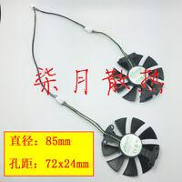 For Zotac GeForce GTX1050TI GTX1060-6GD5 X-Gaming graphics card fan GA91S2H 85MM