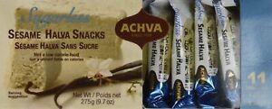 Israel 11 Pcs X 25 Gr Kosher Sugar Free Sugarless Halva Sesame Snack Achva 1Pack