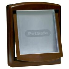 PetSafe 2-Way Manual Pet Dog Door Gate Cat Flap Locking 755 Medium Brown 5021