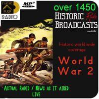 World War 2 -  The worlds best Historic war broadcasts set - 3 Volumes - 2 discs