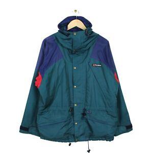 Berghaus Vintage 80s Tempest IA Mens Green Aquafoil Hiking Coat Jacket - Size M