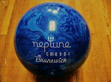 BRUNSWICK NEPTUNE 10 lb VINTAGE BLUE SWIRL BOWLING BALL NEW AND UNDRILLED!