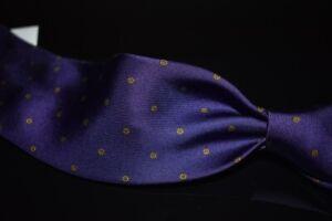 #1 MENSWEAR LNWOT Drakes England Silk Tie Easyday Amethyst Mini Floral Neat #32