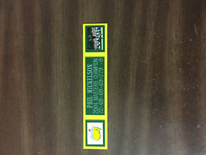 PHIL MICKELSON (2004 MASTERS) NAMEPLATE FOR AUTOGRAPHED BALL DISPLAY/FLAG/PHOTO