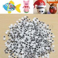 Scrapbooking 6mm Googly Wobbly Flat Back Eyes,you pick quantity Cardmaking