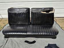 Factory OEM MOPAR 1967 B-body Coronet 440 Black Front Split Bench Folding Seat