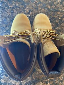 Timberland Woman's Linden Waterproof Work Boots Size 9.5 Wheat Padded