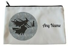 Personalised WITCH/CAT Accessory/Pencil Case/Make Up Bag