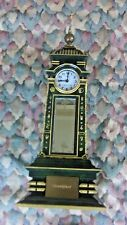 """KB Clock 4 Time Zone Scully And Scully Quartz Clocks 14.5"""" Tall Very Rare Green"""