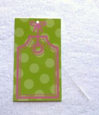Boutique Tags Price Tags/Gift Hang Tags 100 Green/Pink Tags W/Self-Lock Loops