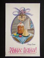 HAPPY EASTER CONTINENTAL POST CARD PUB. BY M. SIBIRIAKOFF 1984 POSTCARD