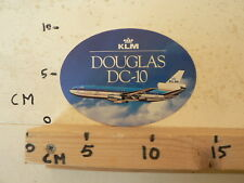 STICKER,DECAL KLM DC-10 AIRPLANE DC10 AIRLINES B DOUGLAS NOT 100 % OK