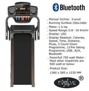 Treadmill Running Adjustable Incline Electric Bluetooth Folding Machine Evolve