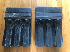 Victorian/Eastlake/TWO Original Antique/Stone/Salvage/Corbels/Brackets/Fireplace