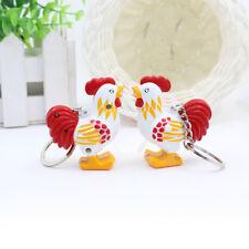 Cute Chicken LED Keychain with Sound Keyring Key Holder Mini Flashlight Kids Toy