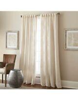 "Talia 84"" Rod Pocket/Back Tab Window Curtain Panel in Beige Lined"