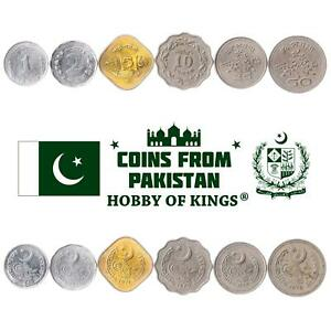 SET OF 6 COINS FROM PAKISTAN: 1, 2, 5, 10, 25, 50 PAISA. 1967-1974
