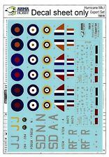 Arma Hobby #70019 1/72 Hurricane Mk.I decal sheet