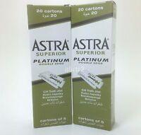200 piece 200 Astra Superior Platinum Double Edge Safety Razor Blades 2 x 100