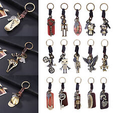 18 Style Punk Leather Vintage Animal Keychain Porte-clés Porte-clés Porte-clés