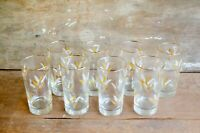 SET OF MID CENTURY VINTAGE WHEAT glass Cups Barware vintage glassware