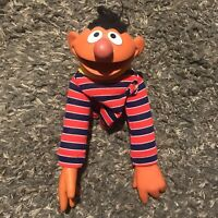 Jim Henson Muppets Sesame Street Ernie Collectible Hand Puppet Vintage 1970s