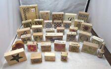 LARGE lot of 34 destash rubber stamps for scrapbooking, crafting, more...