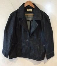 Dark Blue Denim Coat Size 20