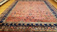8 x 10 Stunning Beautiful fine Quality Indo Sarouk Hand Knotted Wool Rug