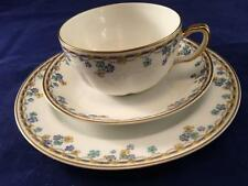 Vintage Pair(2) Beautiful Haviland Limoges Cups And Saucers Trio Sets