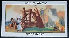 Military Catapult Ancient Artillery Illustrated Card