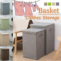 Storage Basket Lid Hamper Laundry Box Clothes Folding toys Large Washing Bin Bag