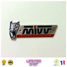Plaque Aluminium MIVV (10,4 x 4cm) Haute Température Echappement Moto Quad