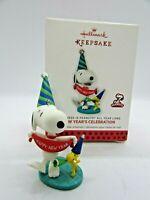 Hallmark 2014 NEW YEAR'S CELEBRATION  Peanuts #6 Monthly Ornament  Snoopy NIB