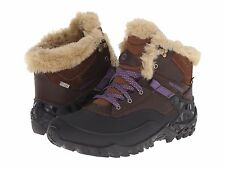 Merrell Womens Fluorecein Shell 6 Lace Up Waterproof Winter Snow Ankle Boots