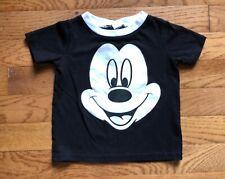 Baby Boy Girl Disney Mickey Mouse Black White Cotton Retro T-Shirt Top 6 Months