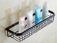 Oil Rubbed Brass Single Layer Shelf Washing Shower Basket Storage Shelves tba064