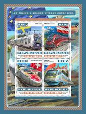 NIGER 2016 Gomma integra, non linguellato Europeo treni ad alta velocità ETR OBB Railjet 4v M/S Rail FRANCOBOLLI