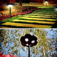 Lucky Flower Solar Garden/Wall Lights, Outdoor Path Yard Lawn LED Light