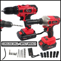 Autojare Impact Wrench Driver & Cordless drill 20v Battery 1/2 in. high Torque