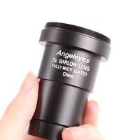 Angeleyes 3x Barlow Lens 1.25'' Fully Metal Astronomical Telescope Eyepiece Lens