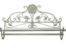 Porte Serviettes Decoration Salle De Bains Retro Vintage Shabby Chic Blanc Metal
