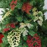 PT_ Cn_2pcs Moda Natale Colorato Foglie Albero di Ornamento Casa Decorazioni F