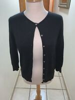 EXPRESS Tricot Angora Cardigan Sweater Large Black Excellent Condition