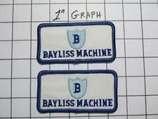 "Pair Vintage Company Logo Patches - ""Bayliss Machine"" Birmingham AL - NOS Mint"
