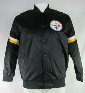 Pittsburgh Steelers NFL Starter Men's Button-Down Insulated Bomber Jacket