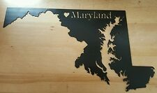 Love Maryland metal wall art plasma cut decor