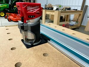 Milwaukee Router Adapter to Makita Track Saw Guide Rail - M18 2723-20
