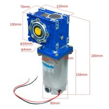 High Power 250W 24V/90V Torque DC Worm Gear Motor with Gearbox Speed Reducer
